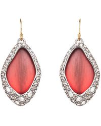 Alexis Bittar Pave Encased Drop Wire Earrings, Wine - Multicolour