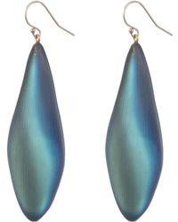 Alexis Bittar Long Leaf Earring - Blue