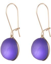 Alexis Bittar Dangling Lucite Sphere Earring - Purple