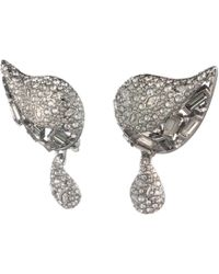 Alexis Bittar - Crystal Encrusted Paisley Button Clip Earring - Lyst