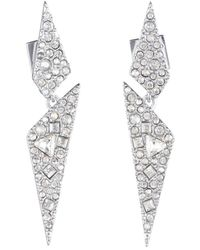 Alexis Bittar Crystal Encrusted Dangling Origami Post Earring - Multicolour