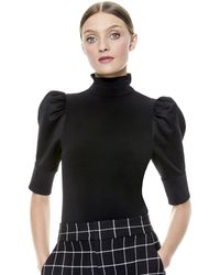 Alice + Olivia Mckayla Turtleneck Top - Black