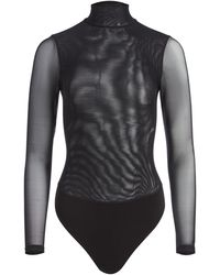 Alice + Olivia Clarinda Turtleneck Bodysuit - Black