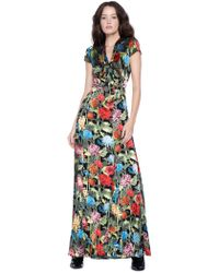 Alice + Olivia - Roanne Keyhole Godet Maxi Dress - Lyst
