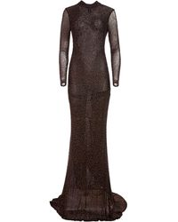Alice + Olivia Delora Embellished Gown - Black