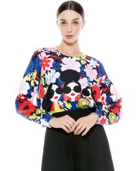 Alice + Olivia Nyla Staceface Pullover - Blue