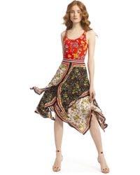 Alice + Olivia Maura Tiered Handkerchief Skirt - Multicolour