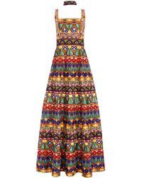 Alice + Olivia Marciela Beaded Gown With Choker - Multicolour