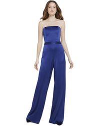 Alice + Olivia Athena Bustier Jumpsuit - Blue