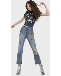 Alice + Olivia - Amazing Crystal High Rise Jean - Lyst