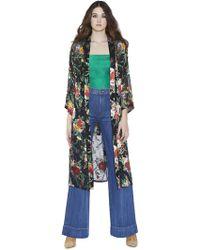 Alice + Olivia Maylin Robe With Tie - Multicolor