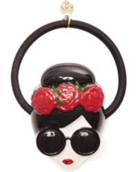Alice + Olivia Staceface With Flowers Hair Tie - Multicolour