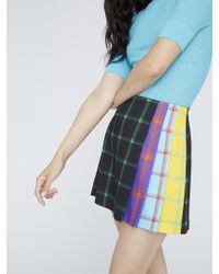 Alice + Olivia Semira Pleated Plaid Mini Skirt - Multicolour