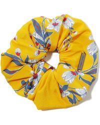 Alice + Olivia Cher Daffodil Vine Scrunchie - Yellow