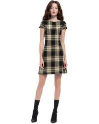Alice + Olivia - Malin Plaid Mini Dress - Lyst