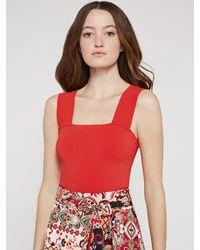 Alice + Olivia Helina Printed Mini Skirt - Red