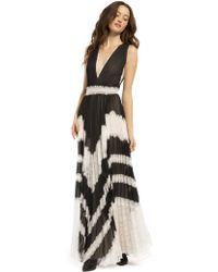 Alice + Olivia - Lace Panel Dress - Lyst