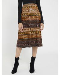 Alice + Olivia Libbie Beaded Midi Skirt - Multicolour
