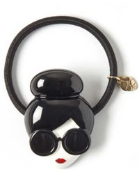 Alice + Olivia Stace Face Hairtie - Black
