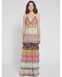 Alice + Olivia Imogene Tier Ruffle Maxi Dress - Multicolor