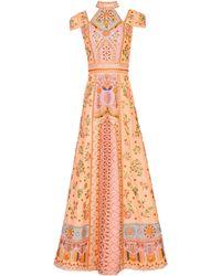 Alice + Olivia Nidia Hand Beaded Gown - Multicolour