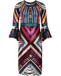 Alice + Olivia Jae Sequin Midi Gown - Multicolour