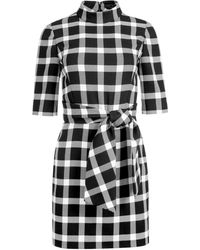Alice + Olivia Virgil Belted Mock Neck Mini Dress - Black