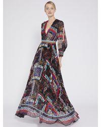 Alice + Olivia Cheney Printed Pleated Maxi Dress - Multicolor