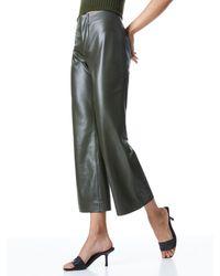 Alice + Olivia Lorinda Vegan Leather Pant - Green