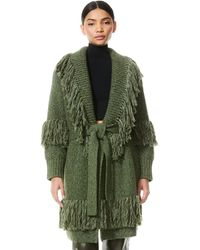 Alice + Olivia Astrid Shawl Collar Coat - Green