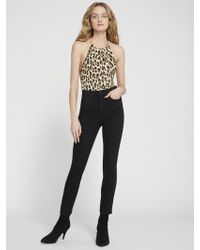 Alice + Olivia Danique Leopard Bodysuit - Multicolour