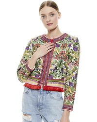 Alice + Olivia Kidman Floral Embroidered Jacket - Multicolor