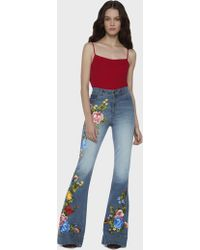 Alice + Olivia - Beautiful High Waist Bell Jeans - Lyst