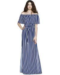 Alice + Olivia - Grazi Off Shoulder Maxi Dress With Belt - Lyst