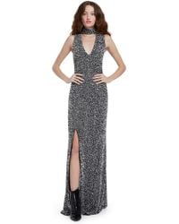 Alice + Olivia - Arial Sequin Sleeveless Gown - Lyst