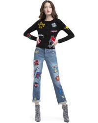 Alice + Olivia - Keith Haring Pattern Cardigan - Lyst