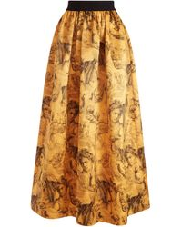 Alice + Olivia Tina Long Ball Gown Skirt - Multicolour