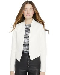 Alice + Olivia New Harvey Leather Jacket - White