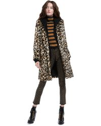 Alice + Olivia - Kylie Faux Fur Coat With Removable Hoodie - Lyst