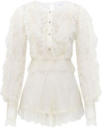 Alice McCALL Love My Way Playsuit - White