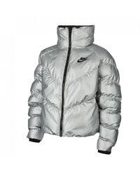 Nike Sportswear Synthetic Fill Shine Jacket (metallic Silver) - Clearance Sale