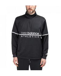 New Balance Mt01506 Vgl Track Sweatshirt - Black