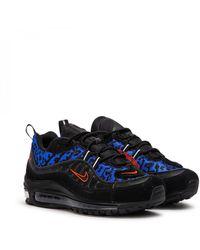"""Nike Wmns Air Max 98 Premium """"black Leopard"""""""