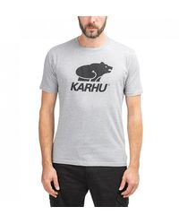 Karhu Basic Logo Tee Heather Grey/ Black - Gray