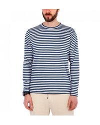 Norse Projects James Logo Stripe - Blue