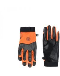 Stone Island Soft Shell-r Gloves - Orange