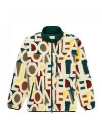 Aimé Leon Dore Shell-trimmed Logo-print Fleece Jacket - Multicolour