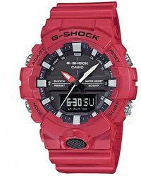G-Shock 'g Shock' Quartz Resin Casual Watch - Red