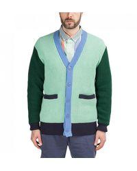 Aimé Leon Dore Colour-block Cotton Cardigan - Green
