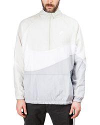 Lyst - Nike Nsw Blue   Black Swoosh Full Zip Reversible Fleece ... 4cc22d4f6